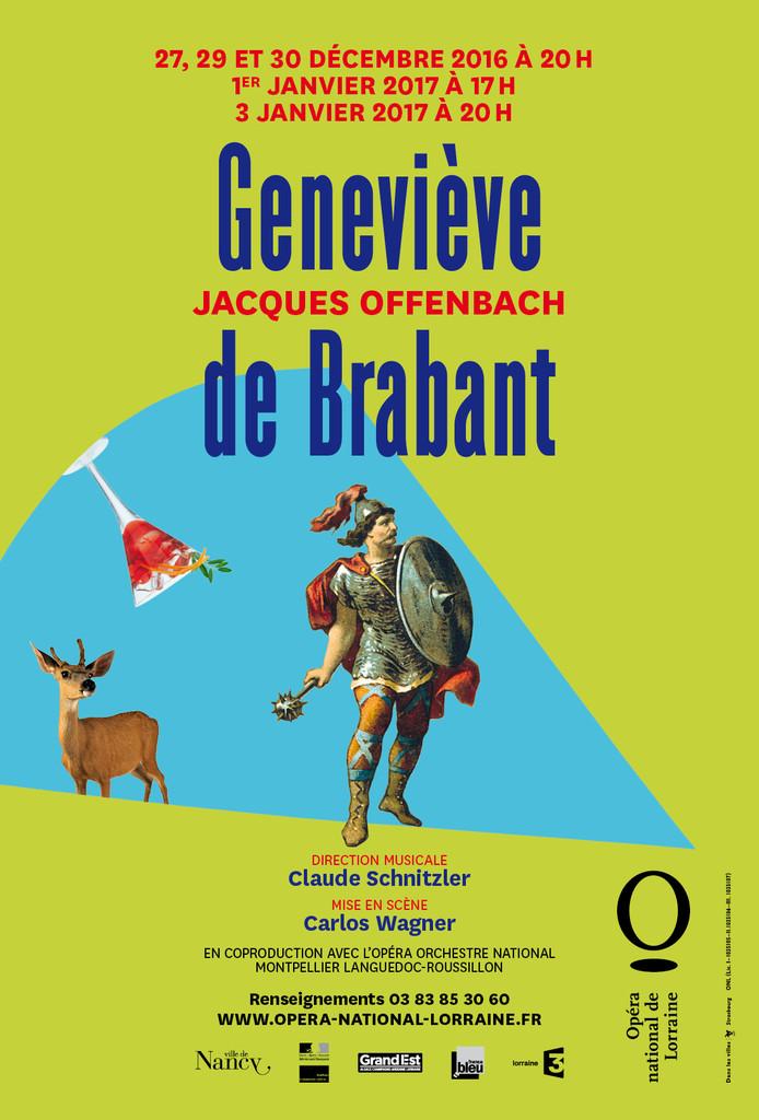 Affiche : Geneviève de Brabant. 2016/2017, Opéra national de Lorraine  
