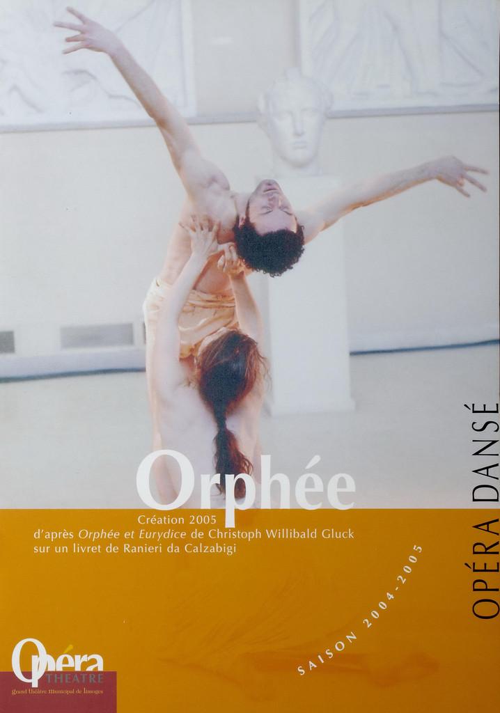 Programme de Salle : Orphée et Eurydice. 2004/2005, Opéra Théâtre de Limoges  