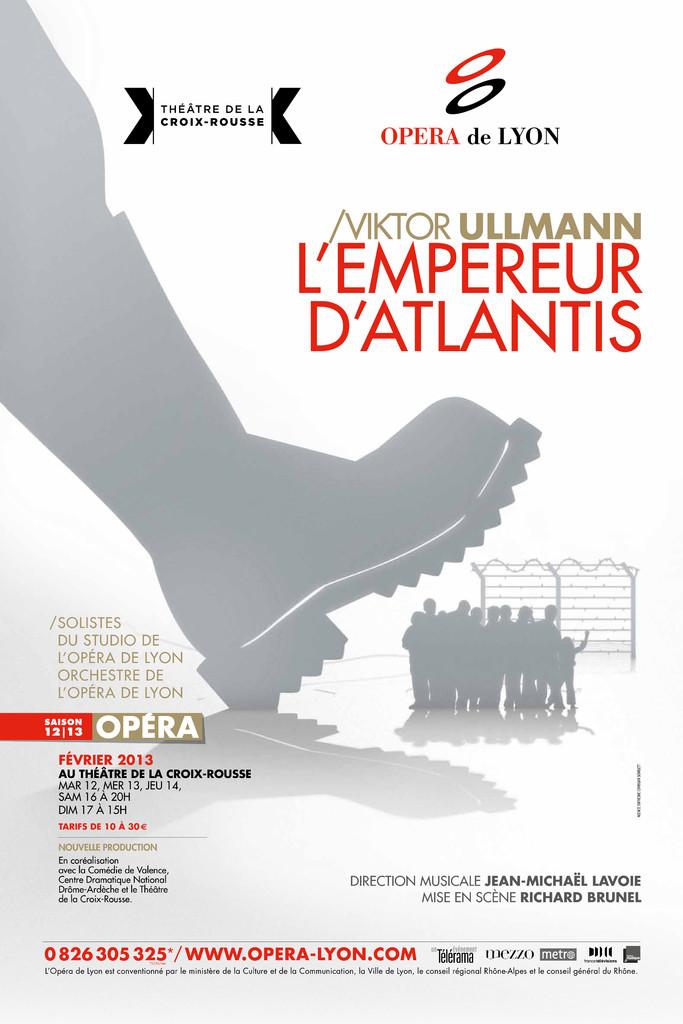 Affiche : Empereur d'Atlantis (L'). 2012/2013, Opéra national de Lyon |