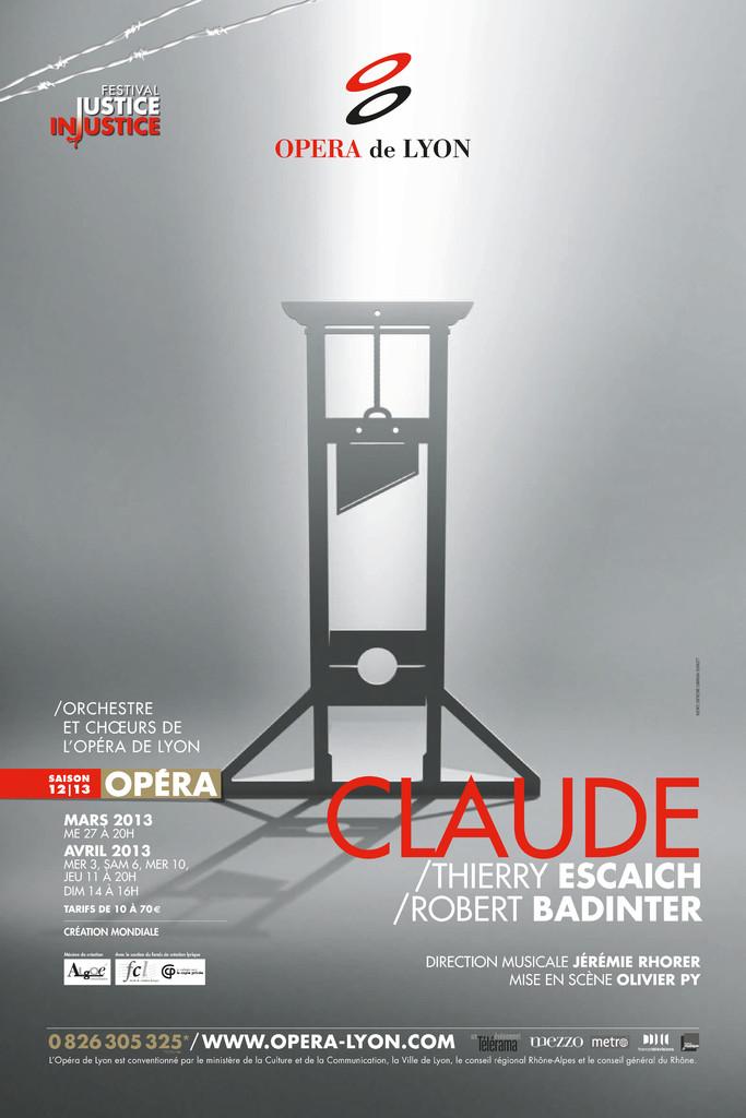 Affiche : Claude. 2012/2013, Opéra national de Lyon |