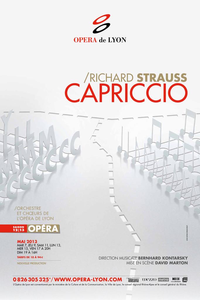 Affiche : Capriccio. 2012/2013, Opéra national de Lyon |