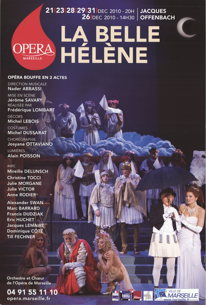 Affiche : Belle Hélène (La). 2010/2011, Opéra de Marseille  