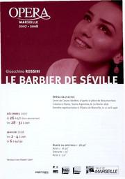 Programme de Salle : Barbier de Séville (Le). 2007/2008, Opéra de Marseille |