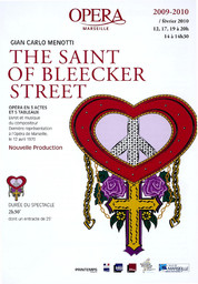 Programme de Salle : Saint of Bleecker street (The). 2009/2010, Opéra de Marseille |