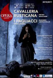 Programme de Salle : Cavalleria rusticana. 2010/2011, Opéra de Marseille  