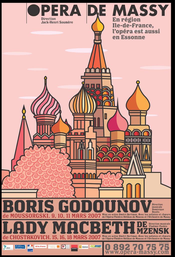 Affiche : Boris Godounov. 2006/2007, Opéra de Massy |