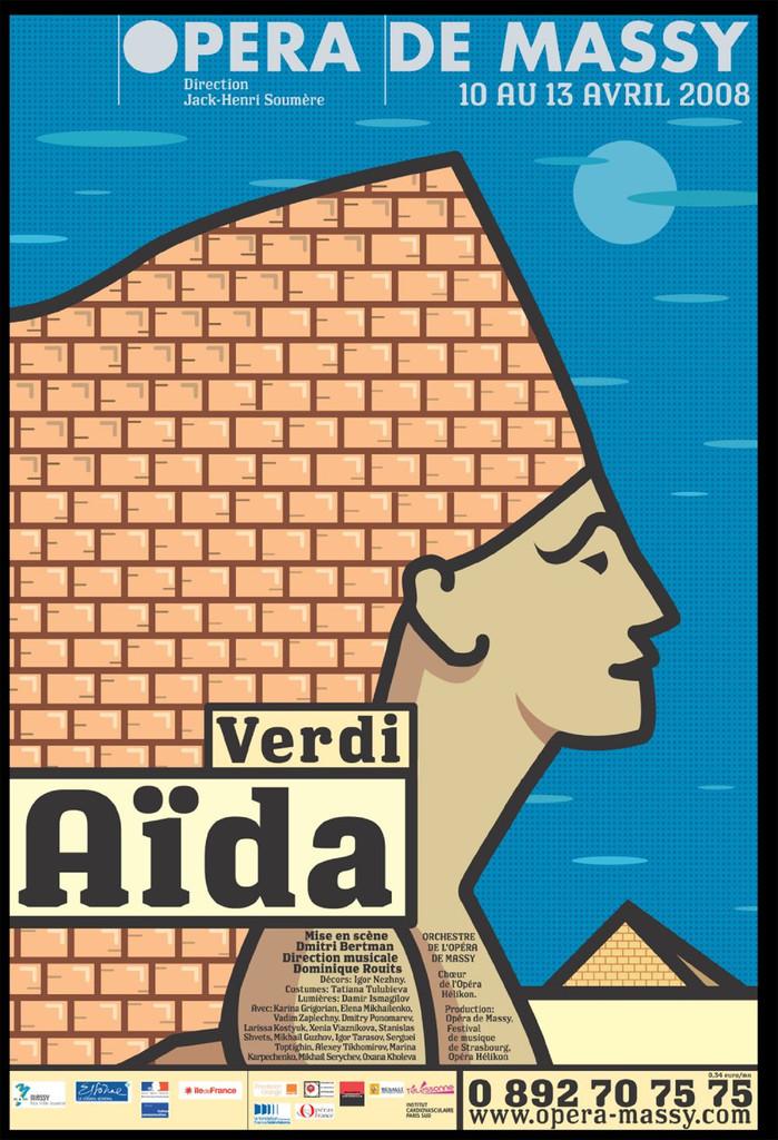 Affiche : Aida. 2007/2008, Opéra de Massy |