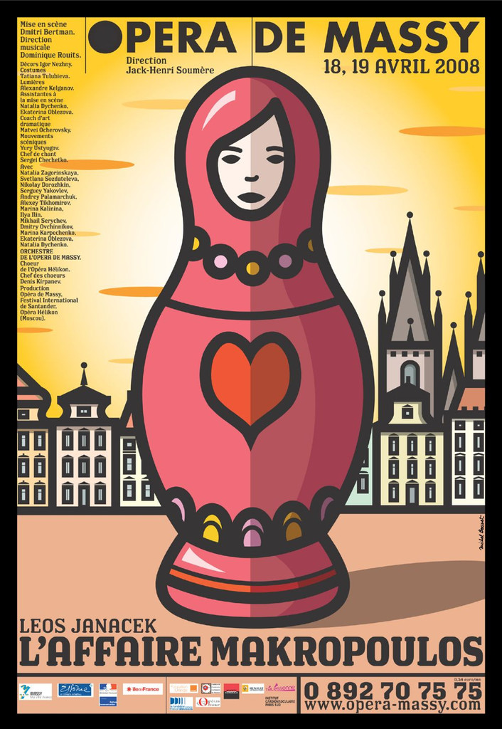 Affiche : Affaire Makropoulos (L'). 2007/2008, Opéra de Massy |