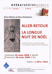 Affiche : Aller-Retour. 2008/2009, Opéra-Théâtre de Metz Métropole |