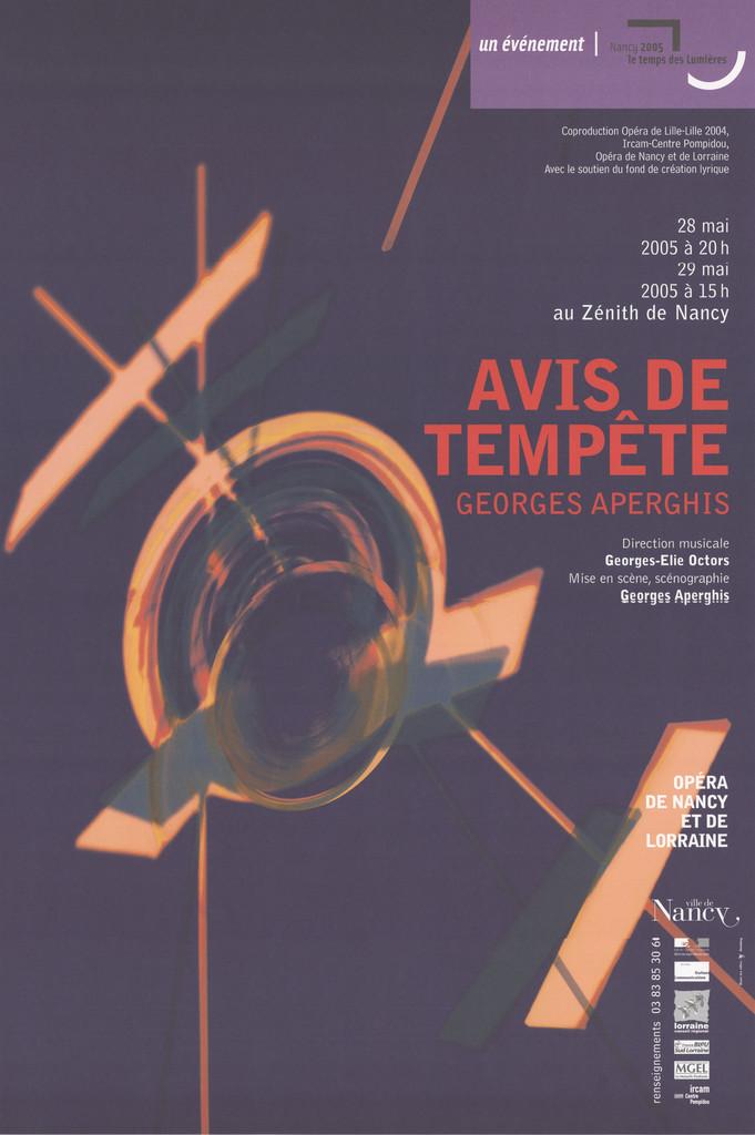 Affiche : Avis de Tempête. 2004/2005, Opéra national de Lorraine  