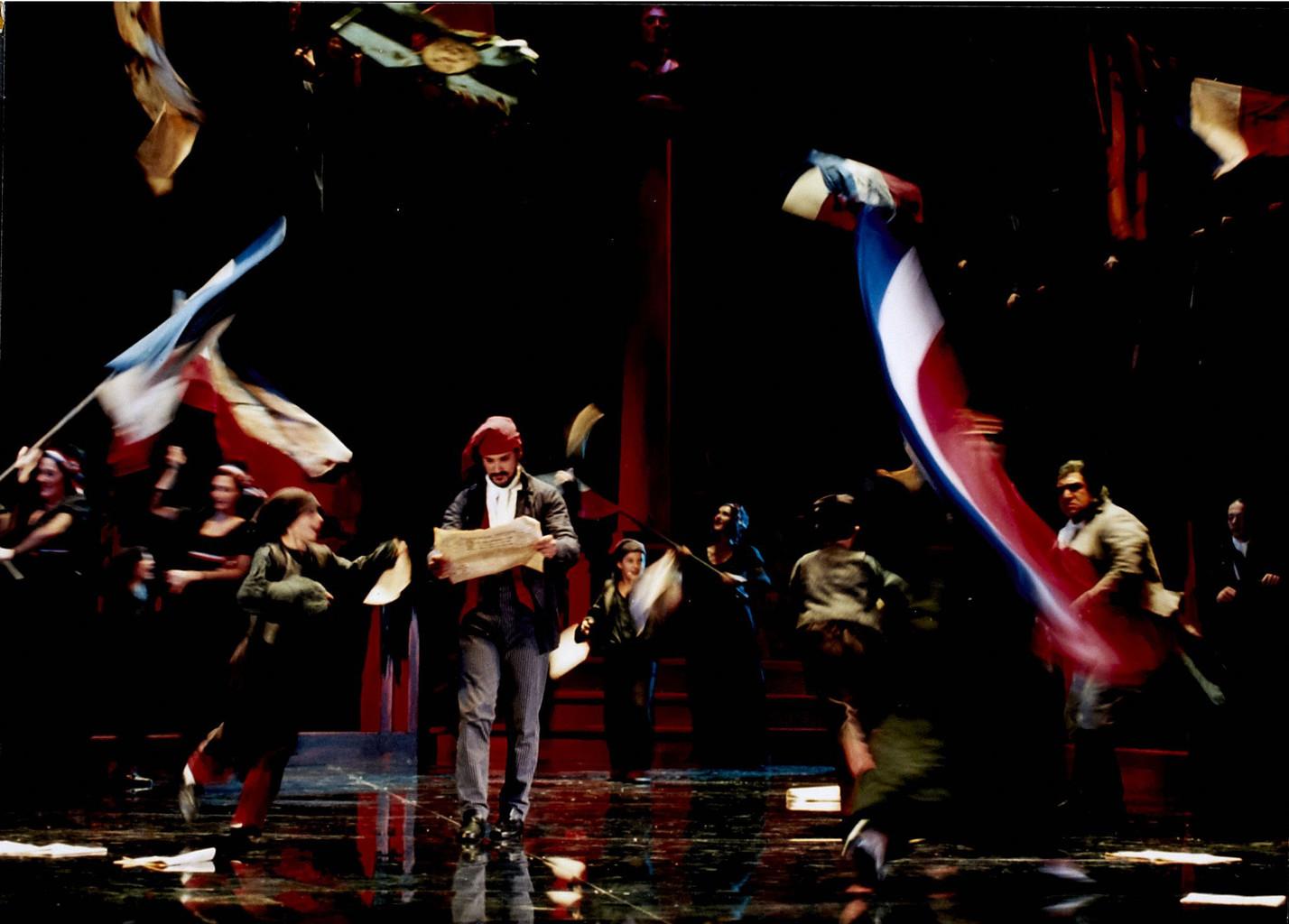 Photographie : Andrea Chenier. 1999/2000, Opéra de Nice Côte d'Azur  