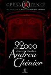 Programme de Salle : Andrea Chenier. 1999/2000, Opéra de Nice Côte d'Azur  