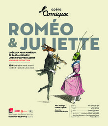 Affiche : Roméo et Juliette. 2007/2008, Théâtre national de l'Opéra-comique |