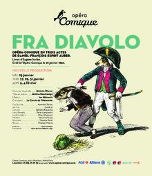 Affiche : Fra Diavolo ou l'hôtellerie de Terracine. 2008/2009, Théâtre national de l'Opéra-comique |