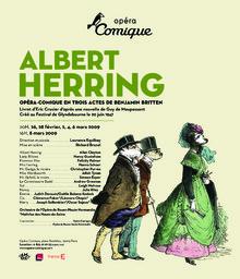 Affiche : Albert Herring. 2008/2009, Théâtre national de l'Opéra-comique |