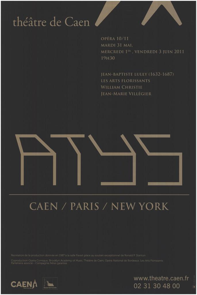 Affiche : Atys. 2010/2011, Théâtre de Caen |