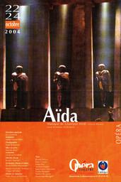 Affiche : Aida. 2004/2005, Opéra Théâtre de Limoges |