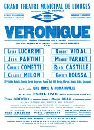 Affiche : Véronique. 1964/1965, Opéra Théâtre de Limoges |