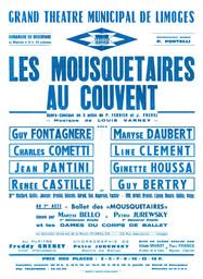 Affiche : Mousquetaires au couvent (Les). 1964/1965, Opéra Théâtre de Limoges |