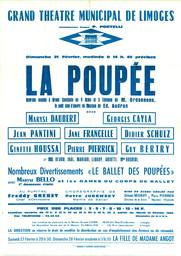 Affiche : Poupée (La). 1964/1965, Opéra Théâtre de Limoges |