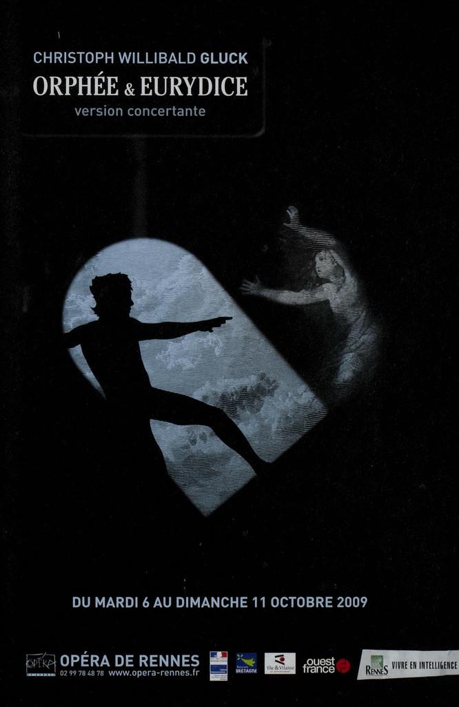 Programme de Salle : Orphée et Eurydice. 2009/2010, Opéra de Rennes  