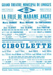 Affiche : Ciboulette. 1964/1965, Opéra Théâtre de Limoges |