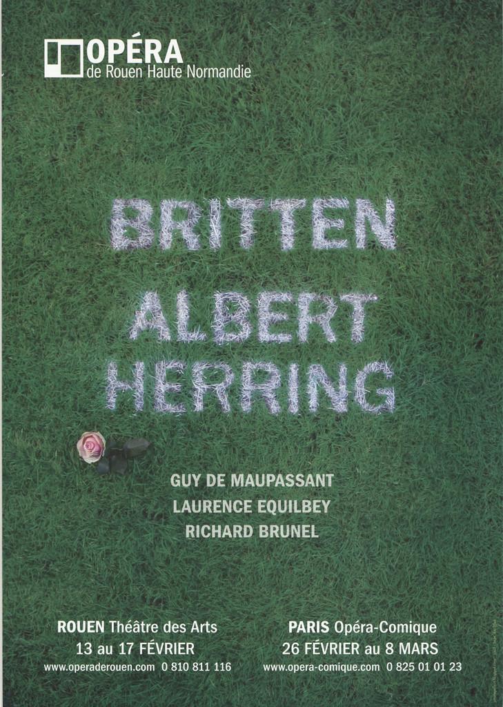 Affiche : Albert Herring. 2008/2009, Opéra de Rouen Haute-Normandie |