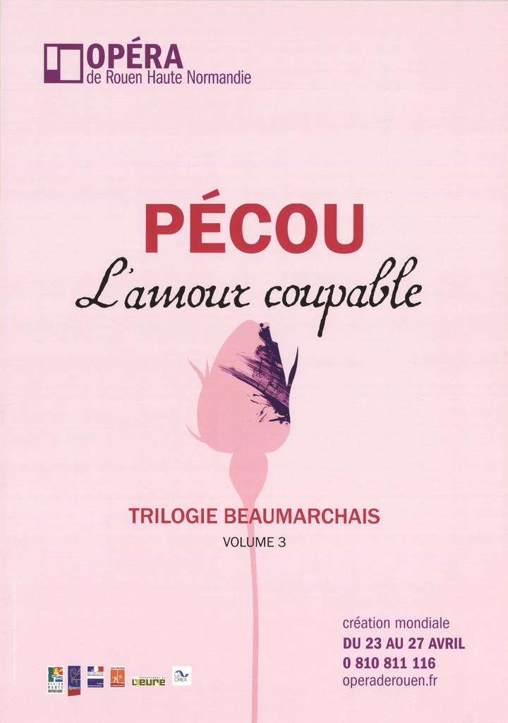 Affiche : Amour coupable (L'). 2009/2010, Opéra de Rouen Haute-Normandie |