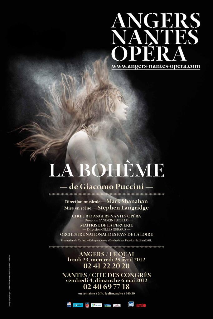 Affiche : Bohème (La). 2011/2012, Angers Nantes Opéra |