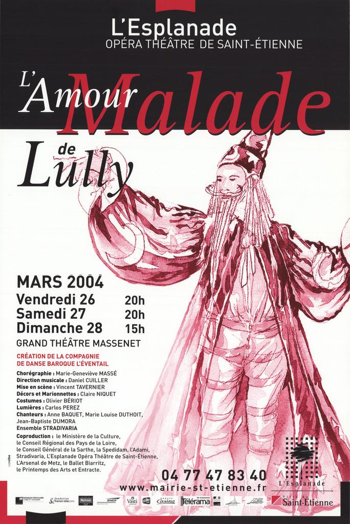 Affiche : Amour malade (L'). 2003/2004, Opéra Théâtre de Saint-Étienne  