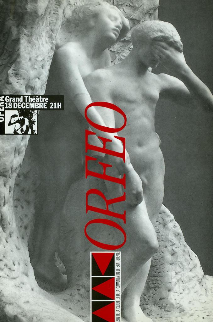 Programme de Salle : Orphée et Eurydice. 1987/1988, Opéra Théâtre de Saint-Étienne |