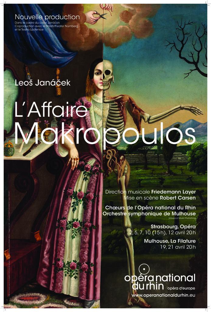 Affiche : Affaire Makropoulos (L'). 2010/2011, Opéra national du Rhin |