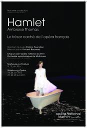 Affiche : Hamlet. 2010/2011, Opéra national du Rhin |