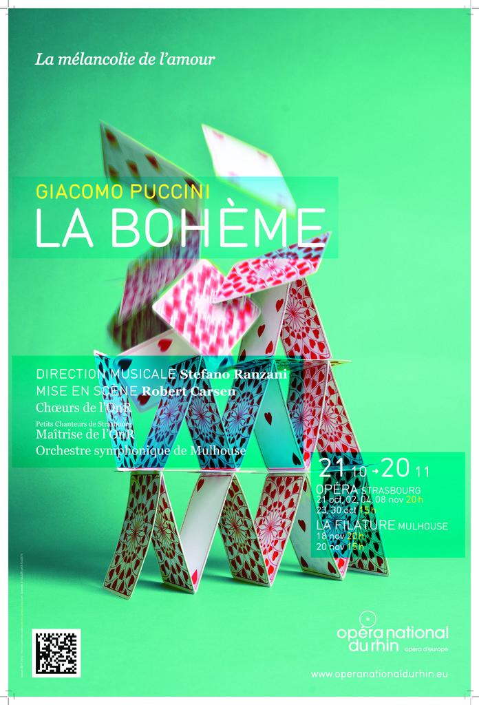 Affiche : Bohème (La). 2011/2012, Opéra national du Rhin |