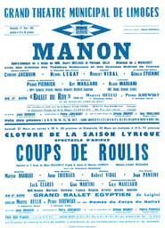 Affiche : Coups de roulis. 1964/1965, Opéra Théâtre de Limoges |