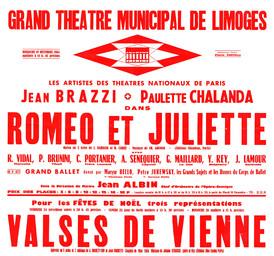 Affiche : Roméo et Juliette. 1964/1965, Opéra Théâtre de Limoges |