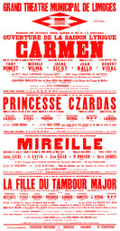 Affiche : Mireille. 1964/1965, Opéra Théâtre de Limoges |