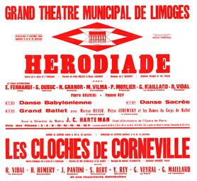 Affiche : Cloches de Corneville (Les). 1965/1966, Opéra Théâtre de Limoges |