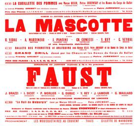 Affiche : Faust. 1965/1966, Opéra Théâtre de Limoges |