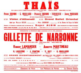 Affiche : Gilette de Narbonne. 1965/1966, Opéra Théâtre de Limoges |
