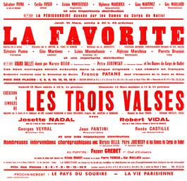 Affiche : Favorite (La). 1965/1966, Opéra Théâtre de Limoges |