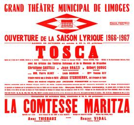Affiche : Comtesse Maritza. 1966/1967, Opéra Théâtre de Limoges |