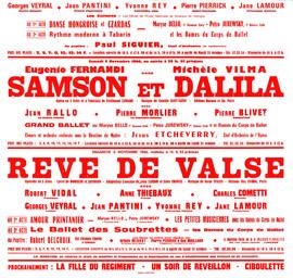Affiche : Rêve de valse. 1966/1967, Opéra Théâtre de Limoges |
