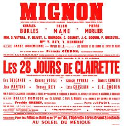 Affiche : Mignon. 1966/1967, Opéra Théâtre de Limoges |
