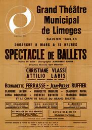 Affiche : Allégories. 1969/1970, Opéra Théâtre de Limoges |
