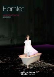 Programme de Salle : Hamlet. 2010/2011, Opéra national du Rhin |