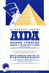 Affiche : Aida. 1990/1991, Opéra Théâtre de Limoges |