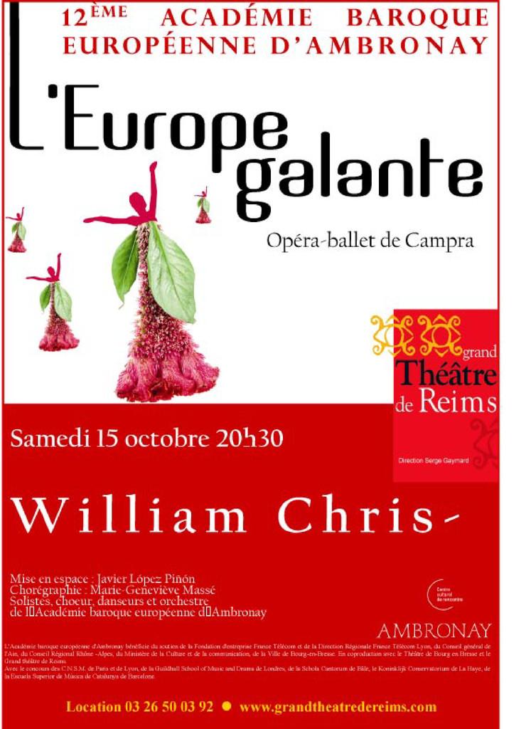 Affiche : Europe Galante (L'). 2005/2006 |