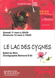 Programme de Salle : Lac des cygnes (Le). 2005/2006, Opéra de Reims |