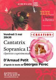 Programme de Salle : Cantatrix Sopranica L.. 2005/2006 |